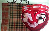 Набор подарочных салфеток Мишка с брелками