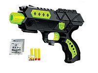 Детское игрушечное оружие пистолет CF698-1, стреляет орбисами и мягкими пулями, пистолет 2в1.