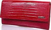 Изумительный женский кожаный кошелек с тиснением под кожу змеи DESISAN SHI150-131 красный