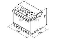 """Аккумулятор BOSCH S4 Silver 60Ah , EN 540 , низкий , правый """"+"""" , ( Bosch 0 092 S40 040 ) 242*175*175 (Д*Ш*В)"""