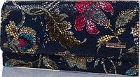 Необычный женский кожаный кошелек в цветочный принт DESISAN SHI150-415 разные цвета