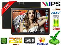 Игровой 3G Планшет Lenovo M160 Ram 1 Gb Rom 8 Gb 10 дюймов HD 1280 х800 GPS 2 сим Android 4 OTG 7500 mAh +Игры