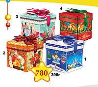 """Новогодняя упаковка 780*1*3*4 """"Подарочная синяя"""", """"Подарочная ретро"""", """"Подарочная красная"""""""