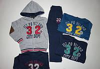 Теплые спортивные трикотажные костюмы-тройка  на флисе для мальчиков 3,4,5 лет.