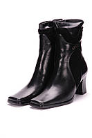 Сапоги женские 560-2 кожаные черные.