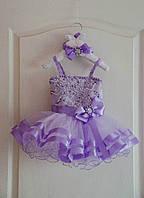 Неповторимое нарядное платье на девочку с пышной фатиновой юбкой и красивой вышивкой