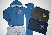 Подростковые теплые спортивные трикотажные костюмы-тройка  на флисе для мальчиков 8-16 лет.