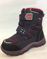 Термо сапоги зимние на девочку BIKI. детская зимняя обувь 28 29 31 32