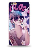 Оригинальный чехол панель накладка для Iphone 6 / 6s с картинкой Девушка в очках