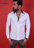 Новая модель 2016! Мужская рубашка белая
