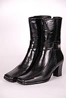 Сапоги женские 560-3 кожаные черные.