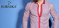 Модная мужская рубашка розового цвета