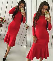 """Красивое красное платье """" Голиаф """" . Арт-8769/74"""