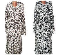 Халат махровый  длинный Леопард для девочки, подростка, р.р. 40-54