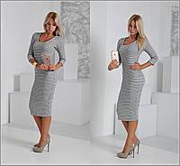 Женское платье-гольф вязка Рибана