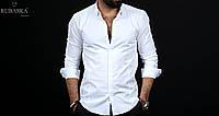 Стильная мужская рубашка белого цвета