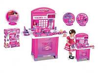 Детская кухня с набором посуды 008-55 А свет, звук, на бат-ке