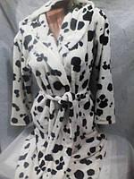 Женский теплый флисовый халат 42 - 48 р-р
