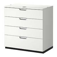 """IKEA """"ГАЛАНТ"""" Тумба с ящиками, белый"""