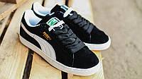 Кроссовки мужские  Puma Classic All black черные замша
