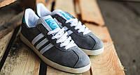 Мужские кроссовки Adidas Gazelle OG Grey cцвета