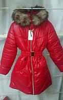 Зимняя куртка девочка 6-10лет Рита (однотон)