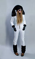 Комбинезон зимний  женский белый