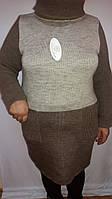 Нарядная женская кофта-туника большого размера
