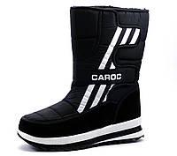 Дутики мужские Caroc, зимние, черные, р. 41 42 43 44 45 46