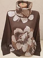 Женский гольф с цветочным принтом