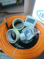 Теплый пол под плитку 4 м.кв Woks 400вт тонкий нагревательный кабель 42м