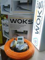 Теплый пол 14 м.кв Woks 1400 Вт тонкий нагревательный кабель 142 м