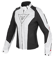 Мотокуртка женская Dainese Laguna Seca D-Dry текстиль белый черный красный 40