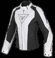 Мотокуртка женская Dainese Laguna Seca D-Dry текстиль белый черный красный 44