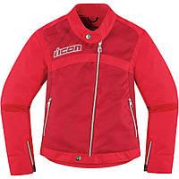 Мотокуртка женская ICON Hella2 красный XS