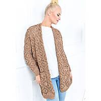 Ажурный теплый женский длинный свитер. 4 цвета  Бесплатная Доставка