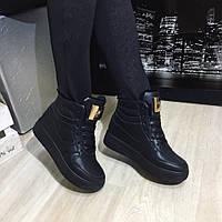 Ботинки женские под Nike Air Force мех , зимняя обувь