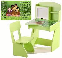 Растущие детская парта и стул Маша (салатовый)