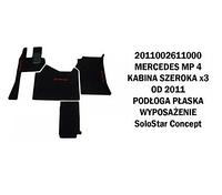 Коврик велюр MERCEDES MP IV от 2011 широкая кабина x3  плоский пол SoloStar Concept /3006