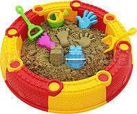 Песочница Sandy Beach складная 3 в 1 + игрушки. Польша