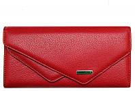Стильный женский кошелек красного цвета Karya 1115-44