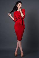 Новинка  платье Венера из французского трикотажа   размеры 40, 44, 46, 48, 50 красное