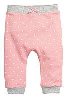 Детские утепленные штаны для девочки. 9-12, 12-18, 1,5-2 года
