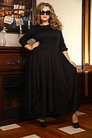 Красивое платье с клешной юбкой