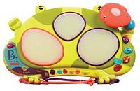 Развивающая Музыкальная игрушка Барабан Кваквафон, свет звук Battat
