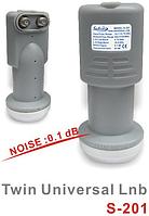 Конвертор Satcom Twin Universal LNB S-201