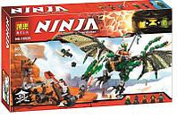 """Конструктор Bela Ninja 10526 (аналог Lego Ninjago 70593) """"Зелёный энерджи дракон Ллойда""""- Нинзяго"""