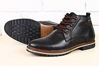 Мужские зимние ботинки, кожа на меху