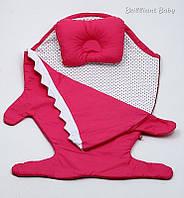 """Детский спальник """"Акула"""" в наборе с подушкой"""