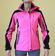 Женская демисезонная куртка Azimut 7955(755) розовая с чёрным код 2020А